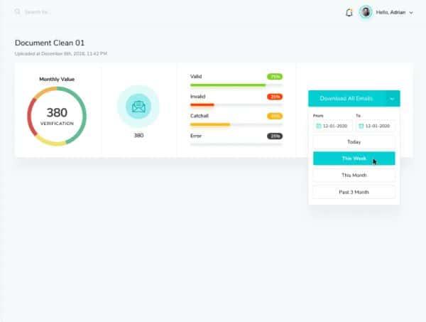 Marketer Magic Email Verifier Interface